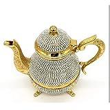 Yxxc Juego de té Teteras turcas de Cristal Tetera árabe -1500 Ml- Juego de té Hecho a Mano Té Turco Tradicional Café...
