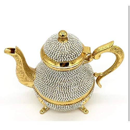 Yxxc Juego de té Teteras turcas de Cristal Tetera árabe -1500 Ml- Juego de té Hecho a Mano Té Turco Tradicional Café Hecho en Turquía