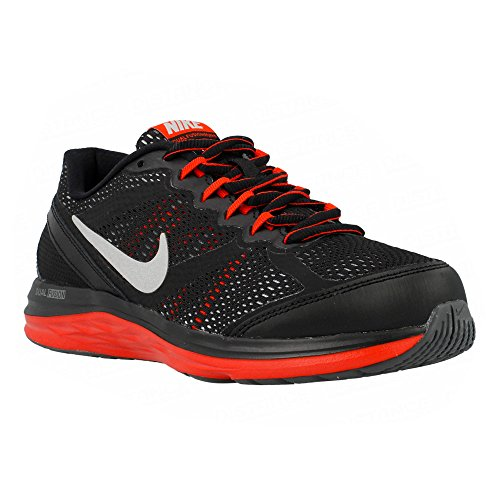 Nike - Dual Fusion Run 3 - Color: Negro-Rojo - Size: 38.5