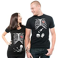 pregnancy tees for couples for Halloween