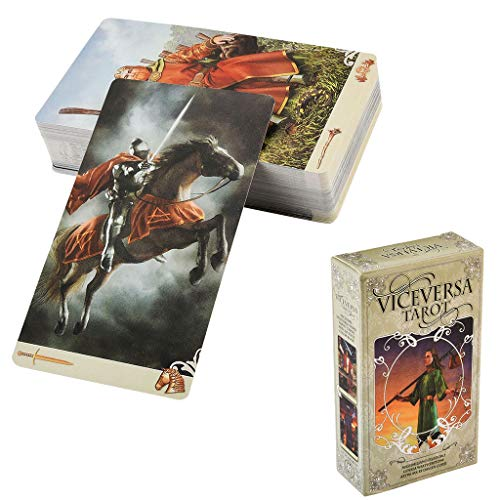 Gxnimer Tarot Cards Deck Divination, 78-Card Kit with Guide Booklet Electronic for Beginners & Expert Readers, Easy to Shuffle