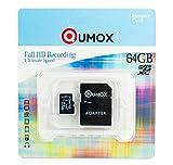 QUMOX 64GB Go Micro SD SDXC Memory Card Carte mémoire Class 10 UHS-I Grade 1