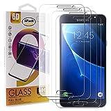Guran 4 Paquete Cristal Templado Protector de Pantalla para Samsung Galaxy J7 2016 J710 Smartphone 9H Dureza Anti-Ara?azos Alta Definicion Transparente Película