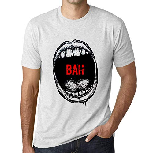 One in the City Hombre Camiseta Vintage T-Shirt Gráfico Mouth Expressions Bah Blanco Moteado