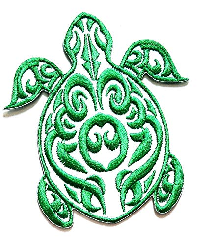 Buy Discount Nipitshop Patches Beautiful Design Green Sea Turtle Animal Cartoon Kids Patch Embroider...