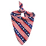 ZTON Triangle Dog Bandana Cowboy Style Reversible Bibs Scarf Washable and Adjustable Kerchief for Small and Medium-Sized Dogs Cats Pets (National Flag)