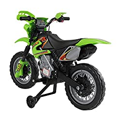 ✅Motocross style ride on motor bike ✅Comes with bright front spot headlights, musical and horn sound effect ✅Play time can last for 45mins based on constant riding ✅Suitable for age 3-6, Max. Load capacity: 25kg. Motor: 25W. Speed: 2.5km/h ✅Includes:...