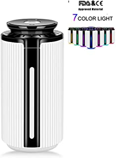 900ミリリットル空気加湿器usbディフューザーアロマエッセンシャルオイル7色ledナイトライトクールミスト清浄器加湿器