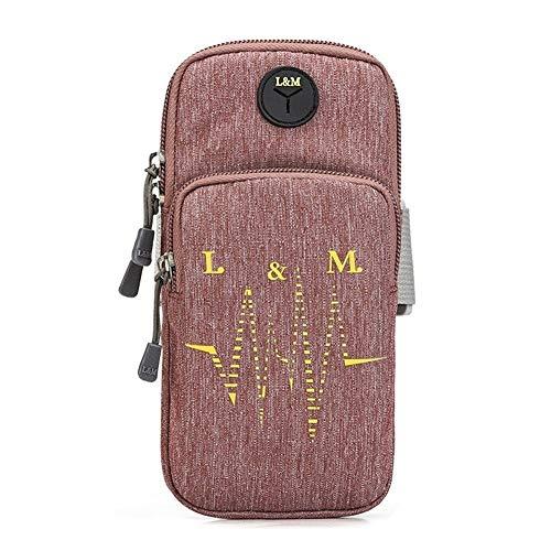 ZWH Arm Bolsas Bolsas de Deporte de la Bicicleta Brazales de los Conjuntos de Unidad de Base de telefonía móvil de 6,2 Pulgadas de Amazon (Color : Purple)