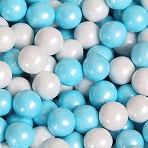 Blue & White Shimmer Pearl Sixlets