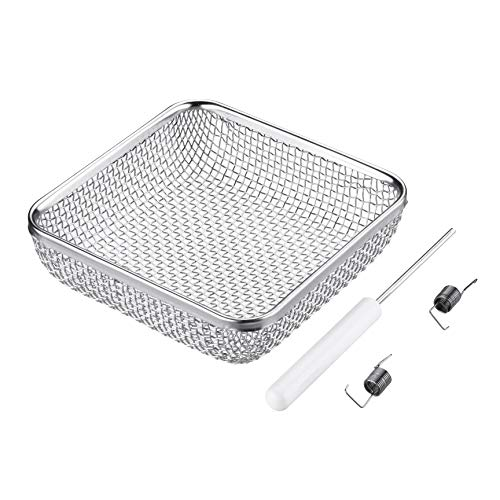 Miady RV Furnace Vent Screen,Flying Insect Bug Cover Camper Heater Exhaust Vents - 4.5x4.5 Stainless Steel Mesh Screens - Installation Tool Included