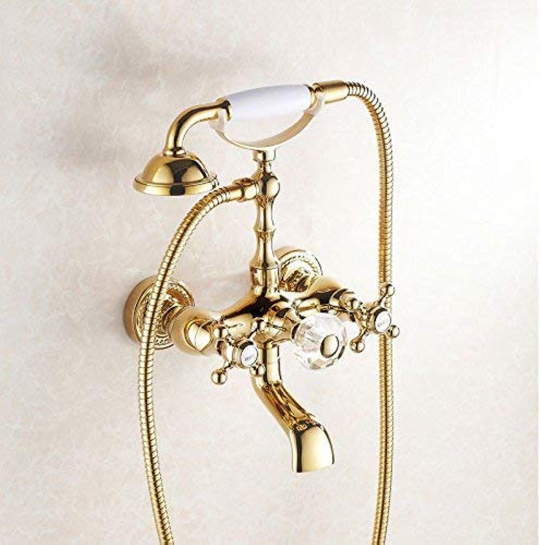 Dusche Kupfer Gold Dusche Set Dusche europischen Retro Doppel Dusche Wasserhahn Telefon Dusche Handheld Badewanne Dusche Mischbatterie