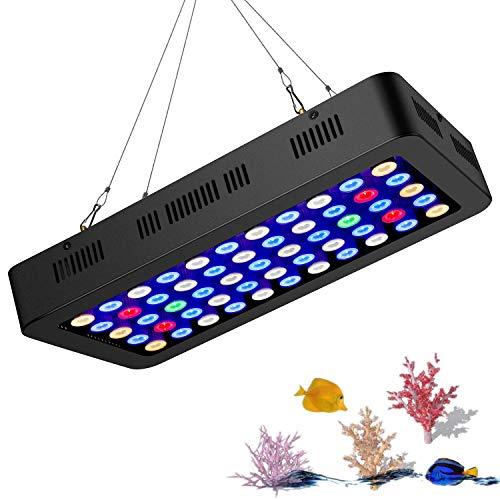 Rhww Espectro Completo Regulable Luz Led Acuario IluminacióN LáMpara para Arrecife De Coral Pecera Agua Dulce Y Agua Salada