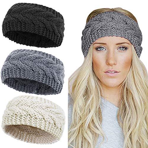 Gestricktes Stirnband für den Winter – für Damen, Grobstrick, gehäkelt, geflochtenes Haarband, Ohrwärmer, Kopfband, Zopfmuster, Turban