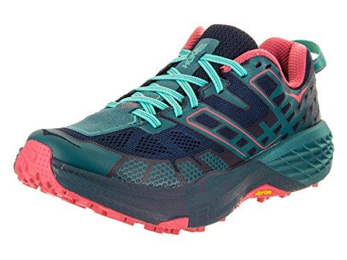 HOKA ONE ONE Speedgoat 2 Trail Running Shoes - Women's Peacoat/Ceramic 10
