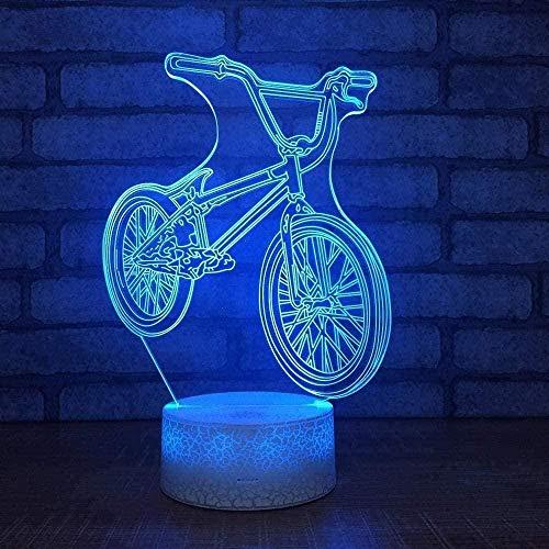 LWYX Luz nocturna 3D de vino lámpara de 7 colores cambiantes LED mesa de escritorio luz nocturna con control remoto ilusión óptica niños niñas niños decoración del hogar fiesta B2-B17