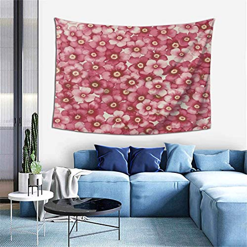KZZ Pink Peach Blossom Tapestry 60x40 inch Boutique Funny Tapestry Wall Hanging Party College Dormitory Apartment Bedroom Decoration Microfiber