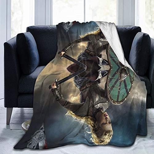Manta mágica de corte extendido de la saga del norte del Atlántico Vi-Kings, Rollo Aslaug Magic Throw Throw over Manta super suave Shagge tamaño de viaje para sofá silla sofá 127 x 101 cm