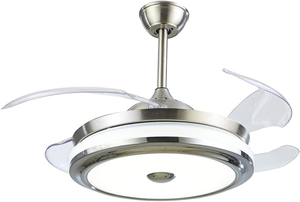 LUOLAX 36 Inch San Jose Mall Modern Ceiling Fan Tulsa Mall with Lights Invisi Retractable