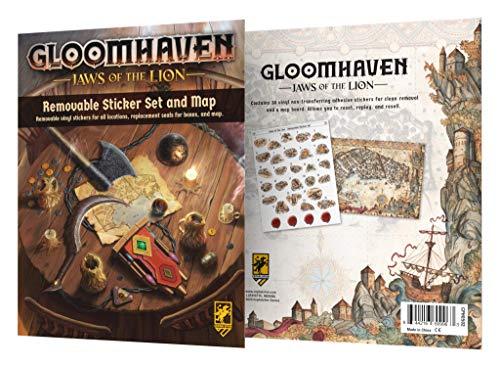 Gloomhaven: Mapa y juego de pegatinas extraíbles de las mandíbulas del león