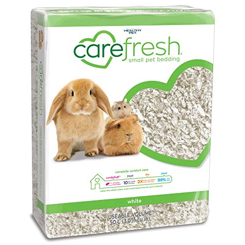 carefresh 99% Dust Free White Natural Paper Small Pet Bedding with Odor Control, 50 L