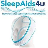 Correa de barbilla ligera y transpirable | Dispositivos antironquidos | Tope para ronquidos | Soluciones anti-ronquidos | Alivio de la apnea del sueño | Recomendado por NHS/ENT