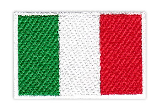 Aufnäher Bügelbild Aufbügler Iron on Patches Applikation Flagge Italien Italy