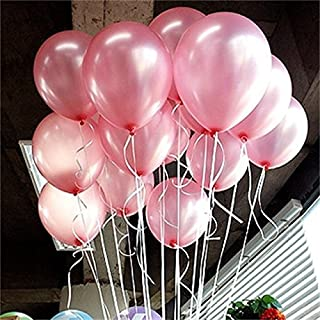 iygnaw 12inch Latex Balloons Latex Wedding Birthday Helium Thickening Balloons Party Balls Pink Balloon