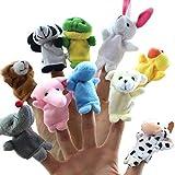 FLORMOON Fingerpuppen 10 stück Bauernhoftiere Puppen Soft Plüsch Puppen Requisiten Spielzeug Mini Plüschfiguren Spielzeug Hände Fingerpuppen für Kinder Kinder