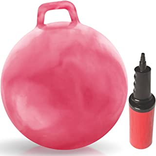 WALIKI Hop Ball for Adults 13-101 | Hippity Hop | Jumping Ball | Bouncy Ball with Handles | Pink 29""