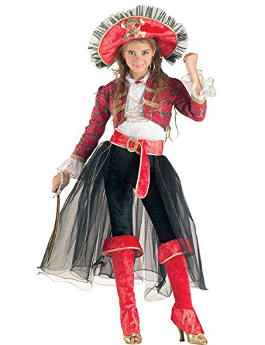 Clown Republic- Belle Corsaire Costume, CS20706/12, Multicolore, 12 Ans