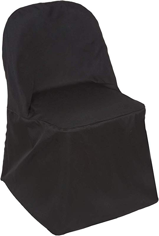Efavormart 40 PCS Black Linen Polyester Folding Chair Cover Dinning Chair Slipcover For Wedding Party Event Banquet Catering