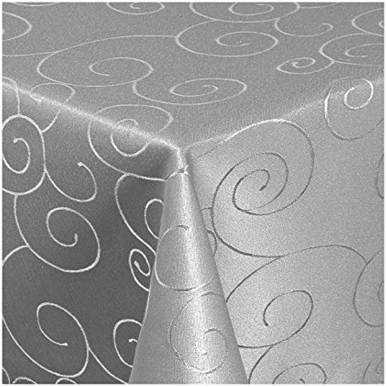 Yasmin Damast Tischdecke Tischdecke Tischdecke Maßanfertigung im Ornamentedesign in Grau Größe wählbar 130cm x320cm B00PWLFDXQ 61c626