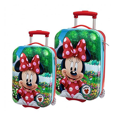 Disney Minnie Garden Set de Bagage, 55 cm, Rouge