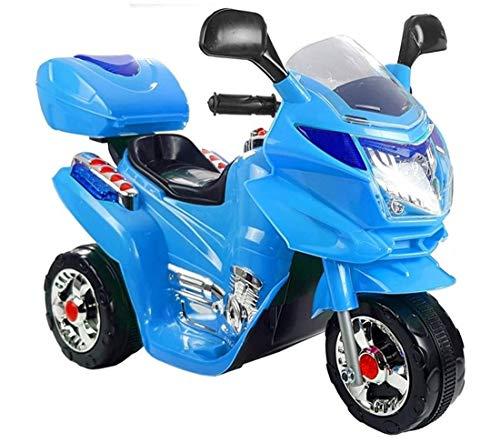 fit4form Kinder Elektro Trike Elektromotorrad 6 V Oceanblue mit Frontscheinwerfer, Sound u. Topcase