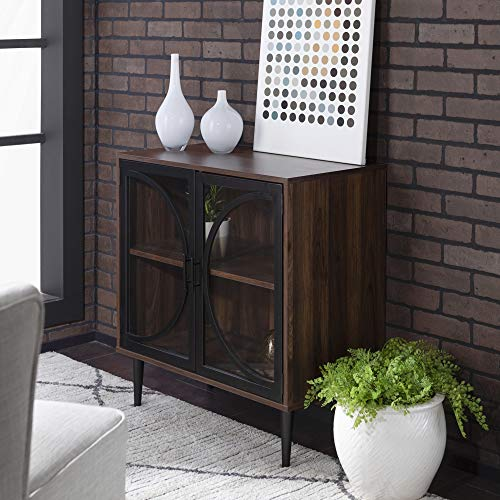 wood and glass storage cabinet - 9