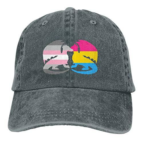 Pansexual Demigirl Pride Dragons Casquette Unisex Hat Baseball Cap Outdoor Travel Leisure Hat Deep Heather