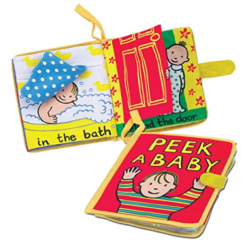 Jellycat Soft Cloth Baby Books, Peek A Baby