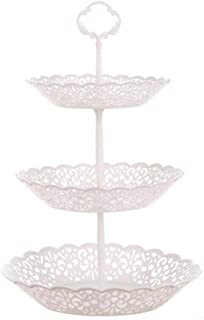 Womdee 3-Tier Cupcake Stand Fruit Plate Detachable Desserts Snack Candy Buffet Display Tower For Wedding Home Birthday Tea...