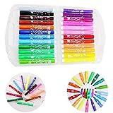 Bochang Marker-Acrylic Paint Marker Pen-Set Colori acrilici per dipingere Te Set Regalo per Rock Painting, Legno, Tessuto,Carta,Tazza Fai da Te-(24-Colori Assortiti)