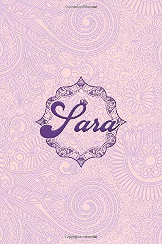 Sara- i'm Sara, nootbook: Ruled 6x9 - 100 pages Ruled writing journal lined. diary. notebook