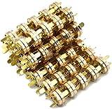Lenhart 100 juegos de broches de botón magnéticos de 18 mm, ideal para costura, manualidades, bolsos, ropa, cuero (dorado).