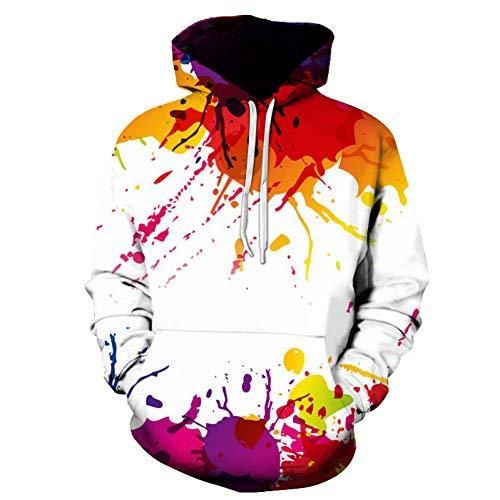 HNKPWY Spritzlack 3D Hoodies Damen Sweatshirts Herren Pullover Plus Size Herbst Causual Trainingsanzug