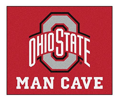 FANMATS NCAA Ohio State University Sports Team Logo Nylon Man Cave Tailgater Rug - 5' x 6'