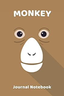 Monkey Notebook Journal: Zoo Farm Animal Face Close Up Note Book Journal Diary, Cool Gift for Men, Women, Kids 118 pages 6...