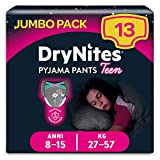 DryNites Braguitas Absorbentes para Niñas, 8-15 años, 27-57 kg - 13 Unidades
