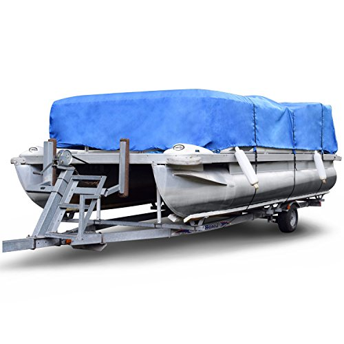 Budge P-1200-3 Denier Pontoon Covers Blue Size PT4: 24' to 28' Long Waterproof, Heavy Duty, UV Resistant
