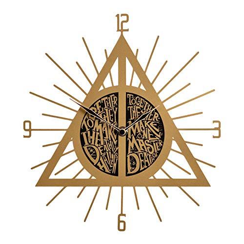 Elbenwald Horloge Murale Harry Potter Symbole des reliques de la Mort 26,5x29x3,5cm métal Plastique