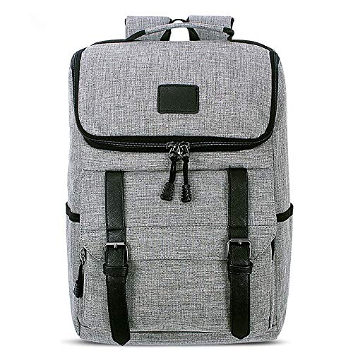 MFENG STORE Universal Multi-Function Canvas Laptop Computer Shoulders Bag Leisurely Backpack Students Bag, Size: 43x30x14cm, For 15.6 inch and Below Macbook, Samsung, Lenovo, Sony, DELL Alienware, CHU