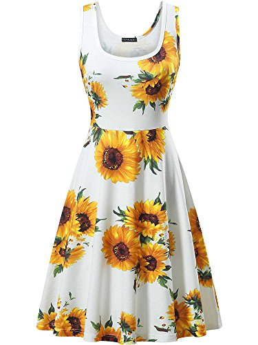 FENSACE Women's Floral Sundress Casual Dresses for Women,18034-9,X-Large
